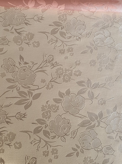 Pastel Printed Floral Satin Silk