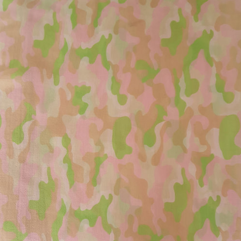 Green and Pink Animal Print Organza
