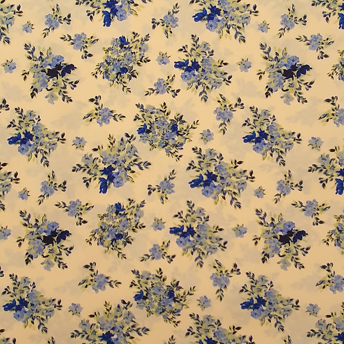 Floral Print on Cream Background Polyester