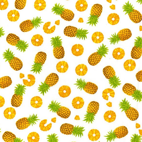 Pineapple Fruit 100% Cotton Rose & Hubble - NEW