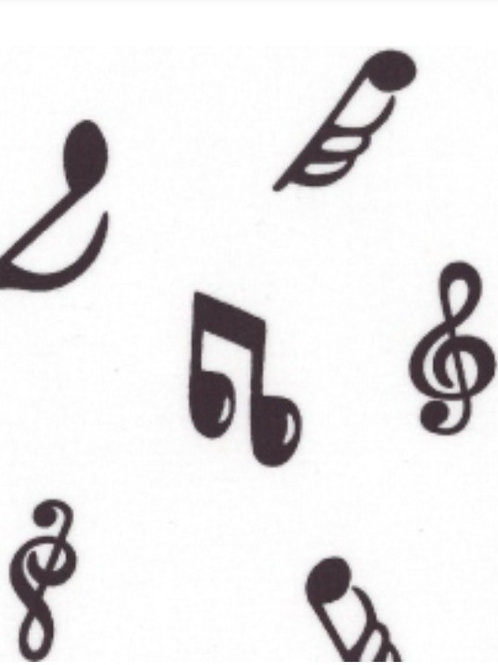 Music Notes 100% Cotton Rose & Hubble - NEW