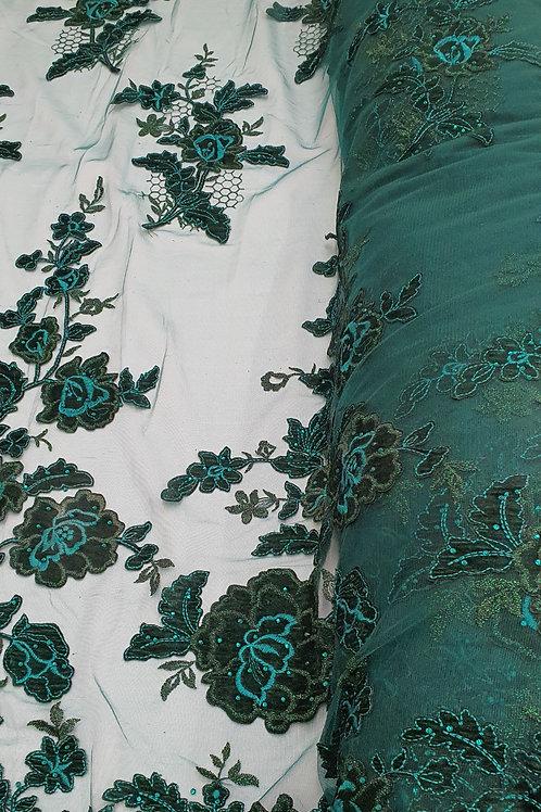 Embroidered Velvet Net