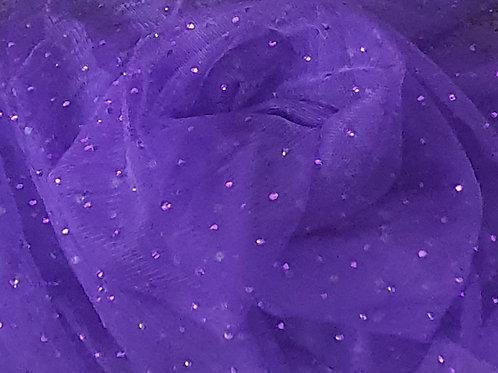 Beaded Mesh Net - Violet