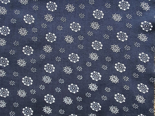 Mini Floral 100% Viscose in Navy & Black - NEW