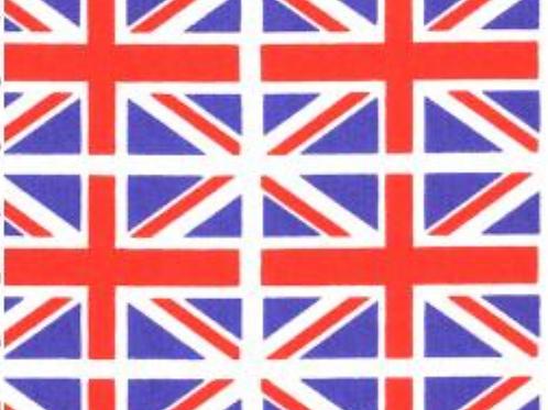 Union Jack 100% Cotton Rose & Hubble - NEW
