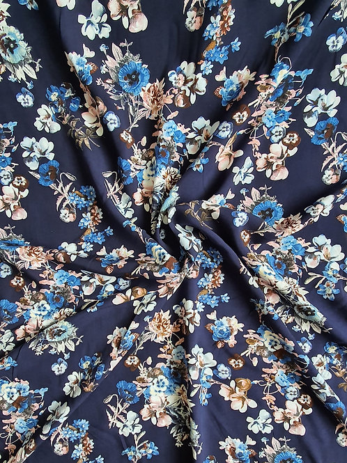 Large Mixed Floral 100% Viscose - New