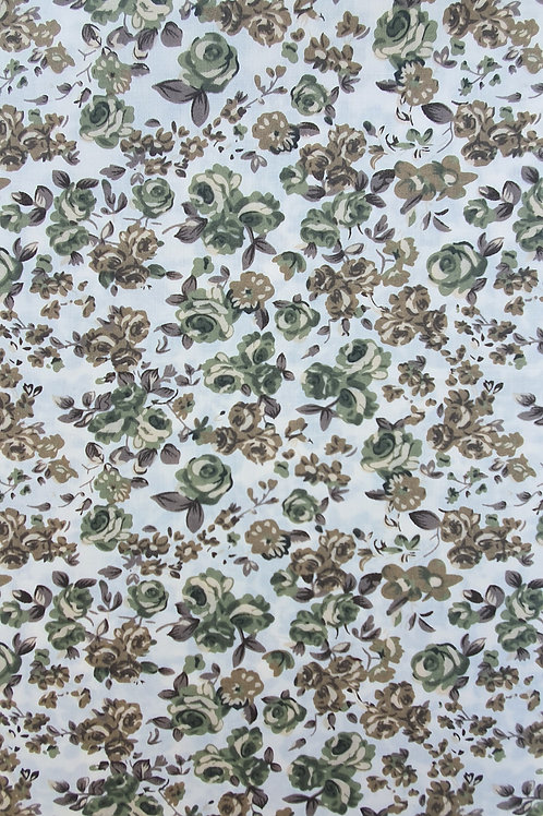 Summer Rose Floral Printed Polycotton