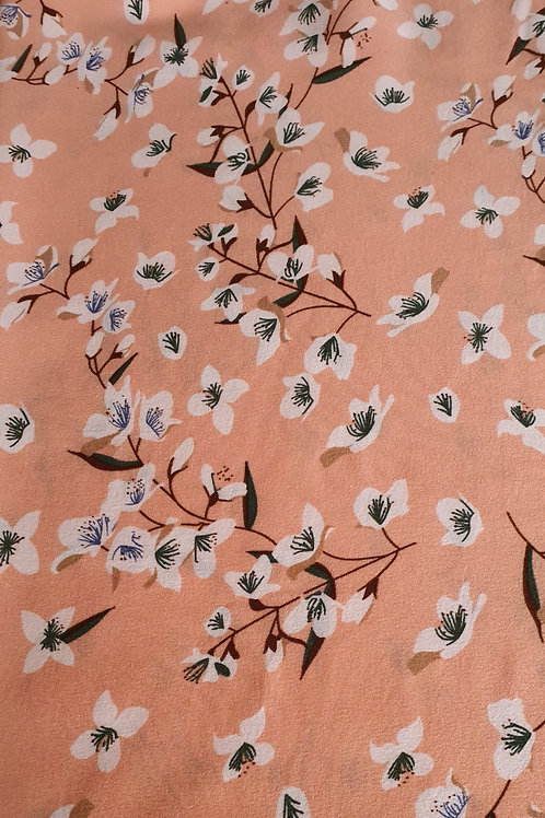 Floral Stem Polyester 2 Way Stretch
