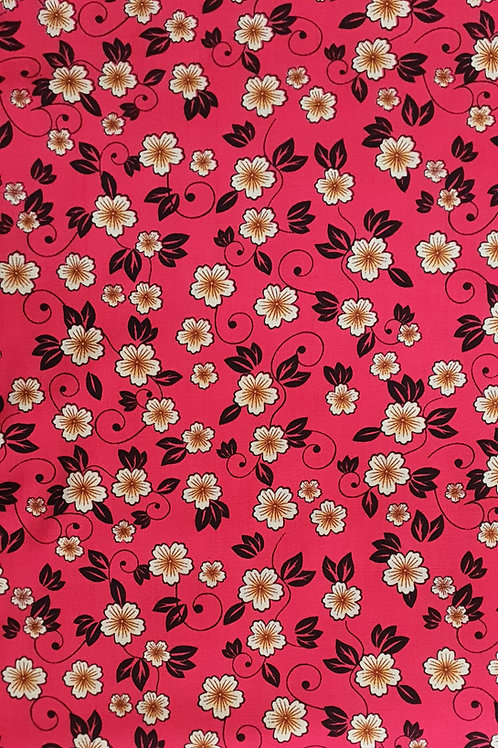 Pretty Coral Summer Daisy Viscose