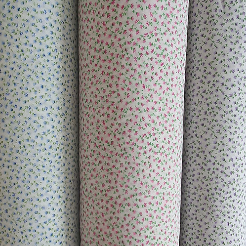 Small Delicate Ditsy Floral Printed Polycotton