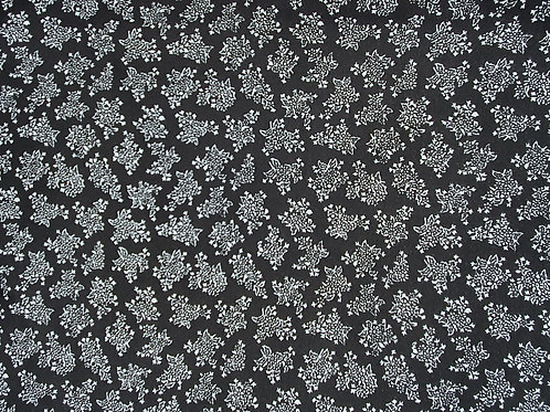 White Speck 100% Viscose in Navy & Black - NEW