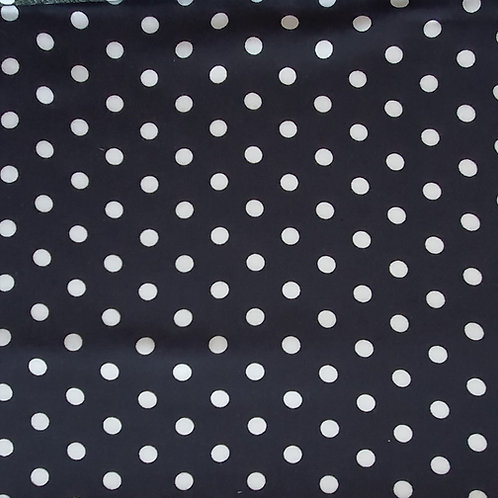 8mm Polka Dot 100% Viscose in Navy & Black - NEW