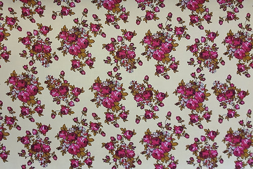 Bright Blooming Floral Viscose