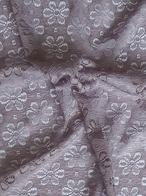 Floral Acrylic Lace - Grey