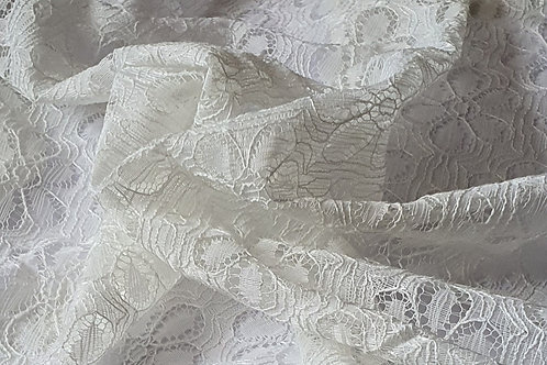 Floral Acrylic Lace - White