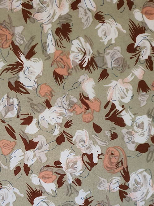 Floral Print Crepe