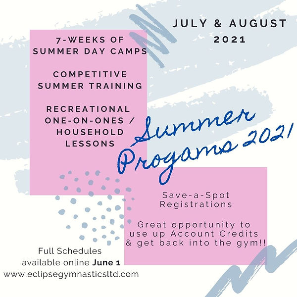 Summer Progams 2021