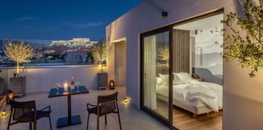 Acropolis Terrace by Night