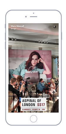 Aspinal London Fashion Week Slap Geofilter