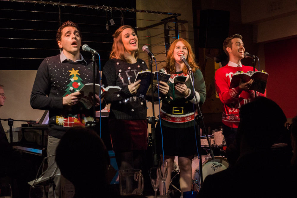 Fed Zanni, Bella Barlow, Rhiannon Drake & Calum Melville in Barlow & Smith's The Caroling Quartet