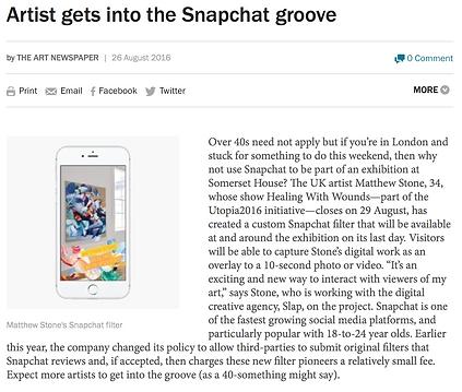 Slap Design - Matthew Stone The Art Newspaper