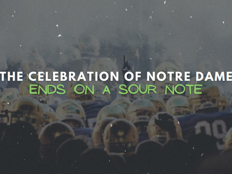 Notre Dame celebrations end on a sour note