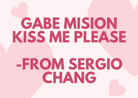gabe mission kiss me please