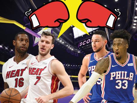 NBA Playoffs: Philadelphia and Miami get heated