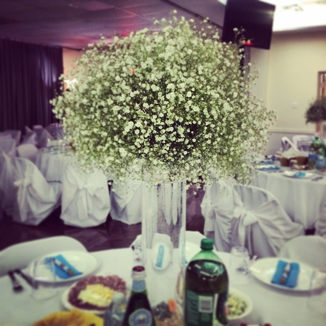 Facebook - Baby's breath from this weekends wedding @vankudovich #babysbreath #wedding #flowers #env