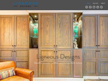 Ligneous Designs New Website