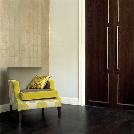 Dark tinted Oak pivot doors