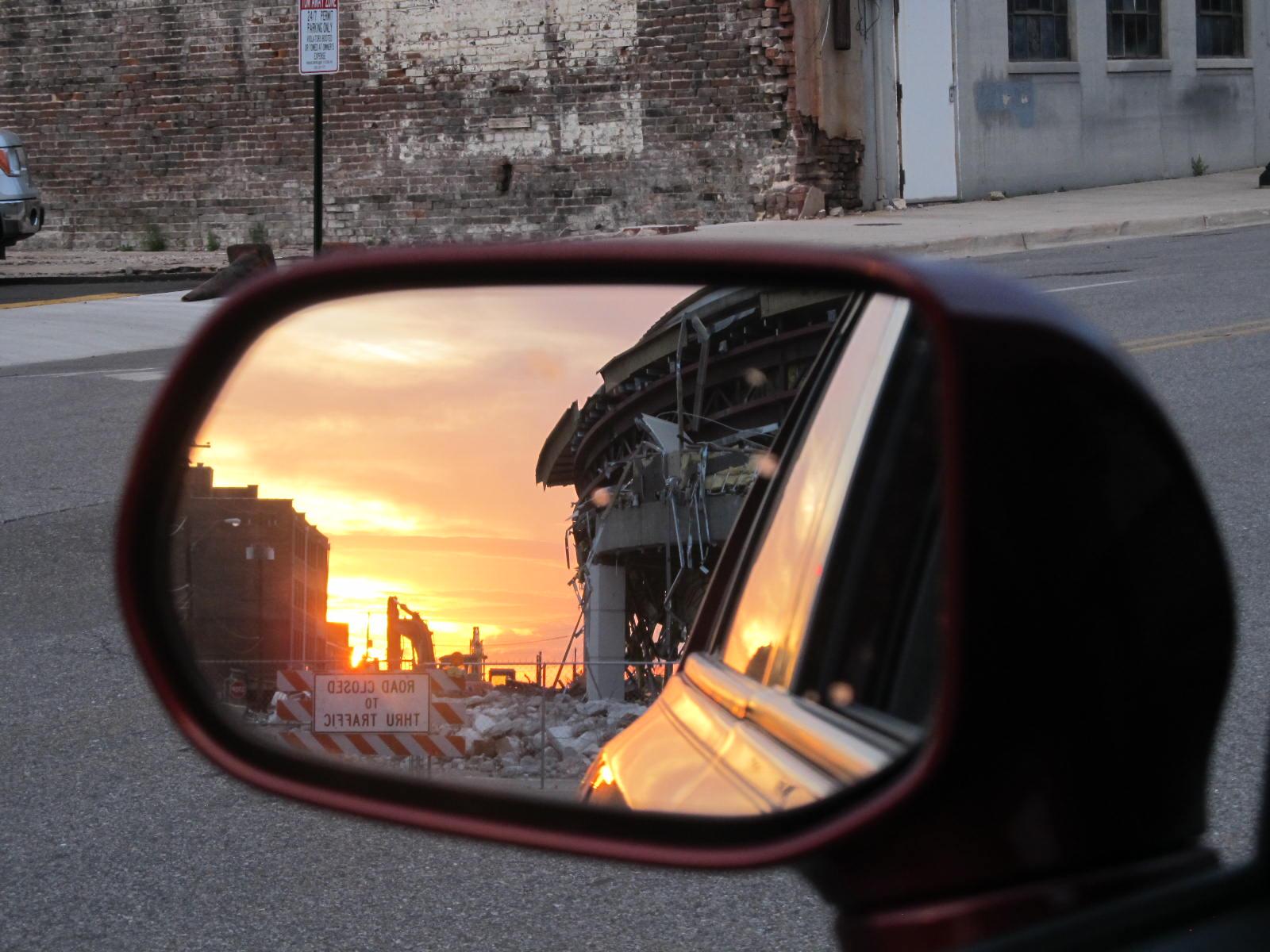 Deconstruction in rearview mirror