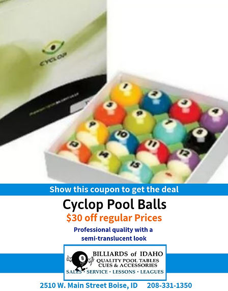 $30 Off Cyclop Pool Balls