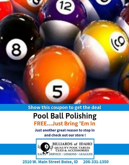 Free Pool Ball Polishing