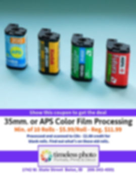 Film Processing - $5.99 a Roll