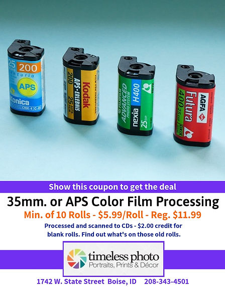 Color Film Processing - $5.99 Roll