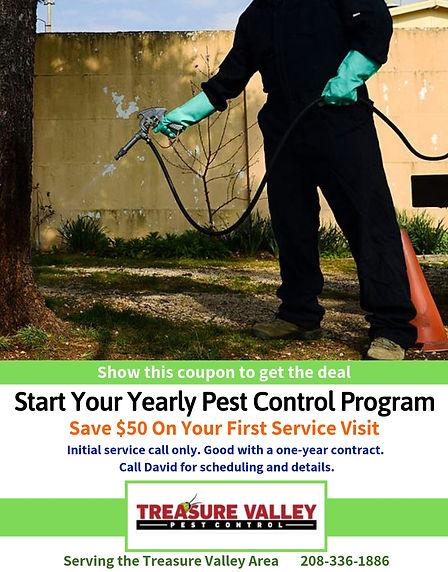 Save $50 Off Pest Control