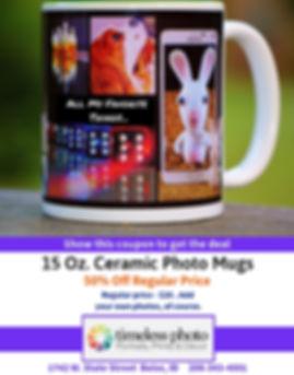 50% Off 15oz Ceramic Photo Mugs