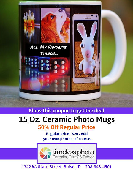 50% Off Ceramic Photo Mugs