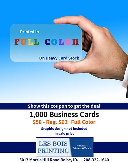 $58 - 1,000 Business Cards