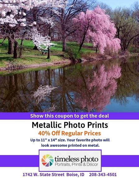 40% Off Matallic Photo Prints