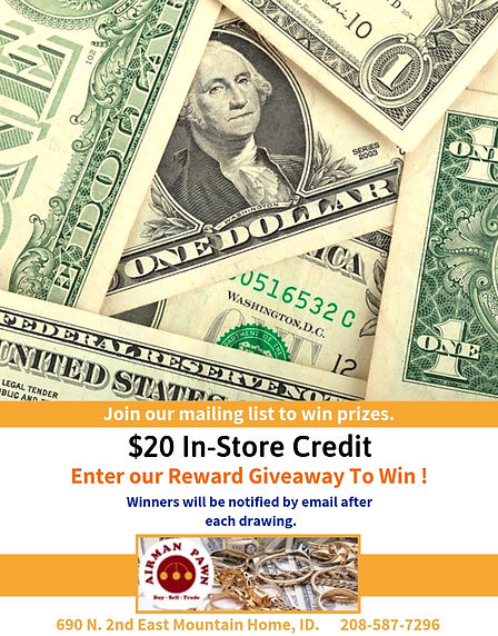 Win A $20 In-store Credit - Airman Pawn