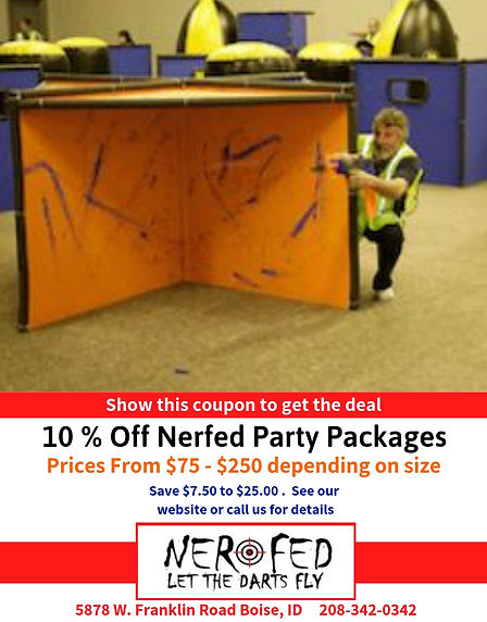 10% Off Nerfed Party Packages