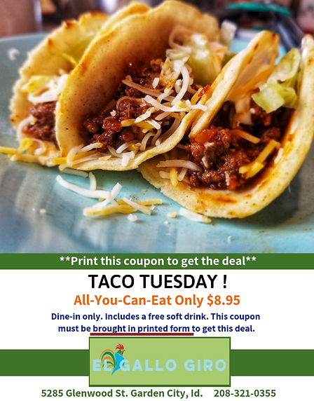 All you can eat - Taco Tuesday