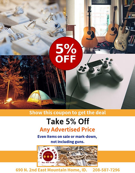 5% Off Any Advertised Price