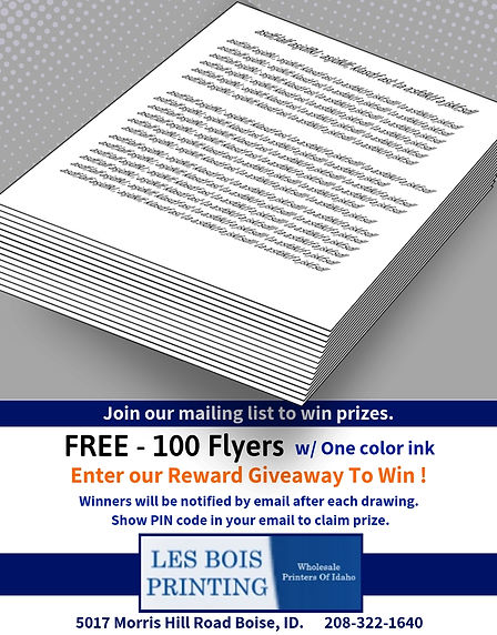 Free - 100 Flyers
