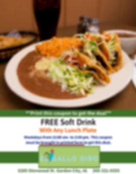 Free Soft Drink