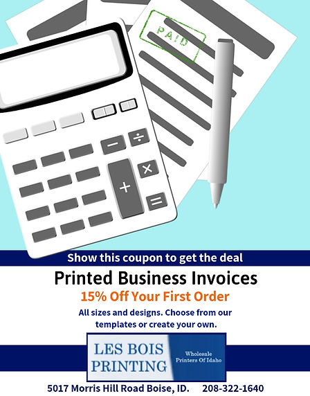 15% Printed Business Invoices
