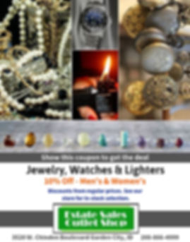 10% off Jewelry, Watches & Lighters