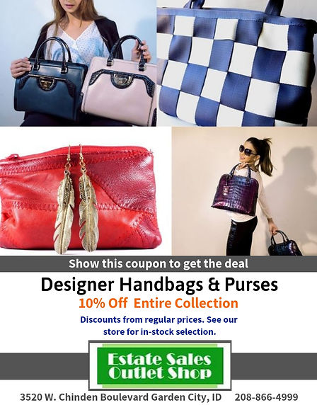 10% off Designer Handbags & Purses